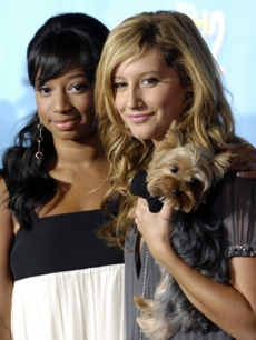 Monique Coleman & Ashley Tisdale smile for the cameras