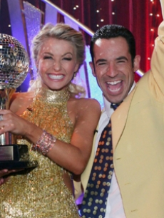 Julianne Hough and Helio Castroneves celebrate winning Season 5 of 'DWTS'