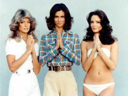 Farrah Fawcett, Kate Jackson and Jaclyn Smith in a promo shot for 'Charlie's Angels' from 1977