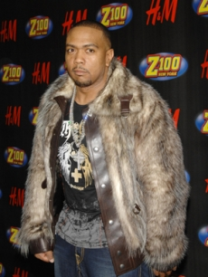Rapper/Producer Timbaland arrives to the Z100 concert 