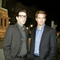 Zachary Quinto and Chris Pine at the premiere of 'Cloverfield'