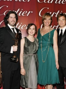 Drew Barrymore, Diablo Cody, Jason Reitman, and cast members of Juno, 