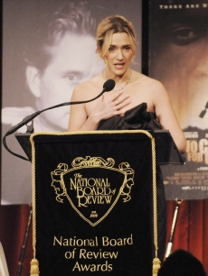Kate Winslet presenting an award at the National Board of Review Gala in NY