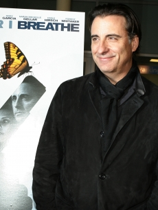 Andy Garcia at the LA premiere of 'The Air I Breathe'
