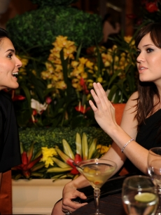 Angie Harmon and Mandy Moore at the Palazzo Las Vegas Grand Opening