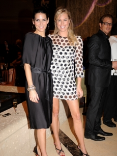 Angie Harmon and Rebecca Romijn at the grand opening of The Palazzo Las Vegas Hotel and Casino