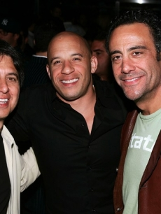 Vin Diesel, Ray Romano and Brad Garrett at The Bank Nightclub at Bellagio in Las Vegas