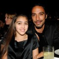 Lourdes and her father Carlos Leon inside the Gucci party