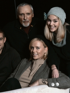 The cast of 'Sleepwalking', Nick Stahl, Dennis Hopper, AnnaSophia Robb and Charlize Theron at Sundance