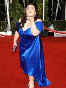 Nikki Blonsky blows a kiss to the crowd