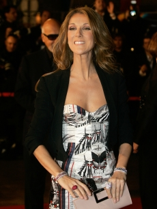 Celine Dion arrives at the Cannes festival palace,to take part in the NRJ Music awards ceremony