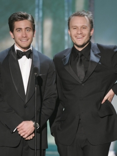 Jake Gyllenhaal and Heath Ledger at the 2006 SAG Awards