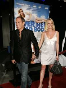 Nicollette Sheridan and Michael Bolton arrive at the premiere of 'Over Her Dead Body'