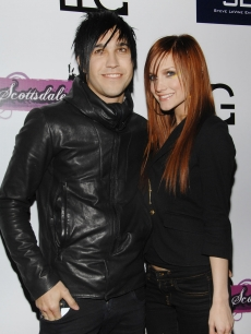 Ashlee Simpson and Pete Wentz at Myst night club in AZ, where Simpson performed