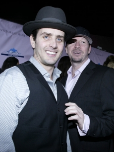 Joey McIntyre and Donnie Wahlberg at the Victoria&#039;s Secret Super Bowl party