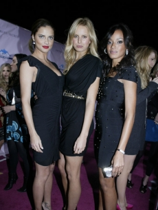 Adrianna Lima, Karolina Kurkova and Selita Ebanks at the Victoria's Secret party