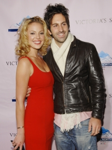 Katherine Heigl and husband Josh Kelley attend the Victoria&#039;s Secret &#039;What Is Sexy?&#039; Super Bowl party