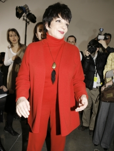 Liza Minnelli attends the fall 2008 collection of Halston during Fashion Week in New York