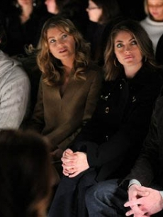 Ellen Pompeo, Chris Avery, Rebecca Gayheart and Eric Dane at the Michael Kors show