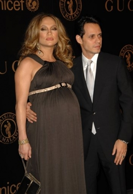 Jennifer Lopez and Marc Anthony at the UN Benefit Gala hosted by Madonna and Gucci