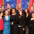 Oprah poses with the latest celebrity contestants of ABC's 'Dancing with the Stars'