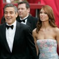 George Clooney and girlfriend Sarah Larson on Oscar red carpet