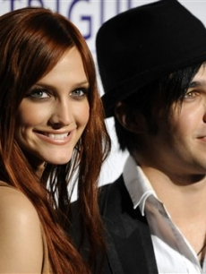 Ashlee Simpson & Pete Wentz at the Clive Davis pre-grammy