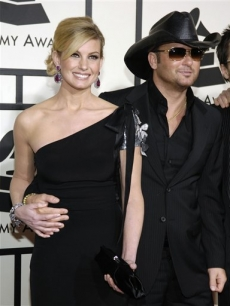 Faith Hill &amp; Tim McGraw arrive at the 50th Annual Grammy Awards 