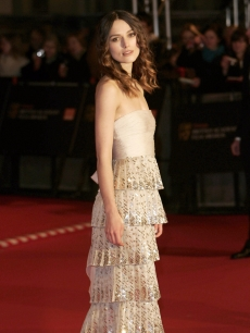 Keira Knightley at the 2008 BAFTAs at the Royal Opera House in London