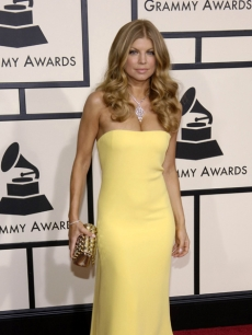Fergie on the Grammys red carpet