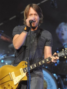 Keith Urban performs in New York on Feb. 13