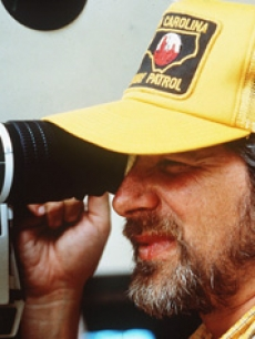 Director Steven Spielberg behind the camera
