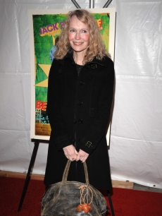 Mia Farrow arrives at the premiere of 'Be Kind Rewind' in NY