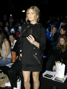 Fergie attends the DSquared2 Fall/Winter 2008/2009 fashion show in Italy