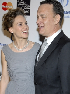 Hilary Swank & Tom Hanks at the Saks Fifth Avenue Unforgettable Evening gala