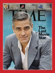 George Clooney graces the cover of the March 3, 2008 issue of Time