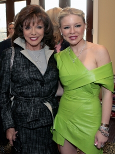Joan Collins and heiress Casey Johnson together at the jewelry gala