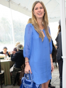Nicky Hilton arrives at the Montblanc High Jewellery Collection in Beverly Hills