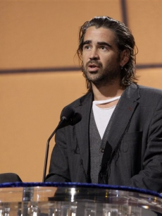 Colin Farrell rehearses for the Oscars, Los Angeles, February 2008