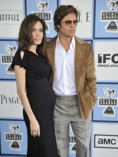 Angelina Jolie & Brad Pitt arrive to the Independent Spirit Awards