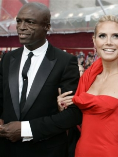 Heidi Klum and Seal on the Oscar red carpet