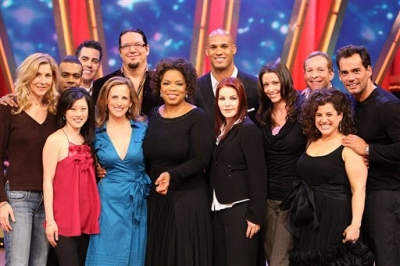 Oprah poses with the latest celebrity contestants of ABC&#039;s &#039;Dancing with the Stars&#039;