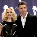 Madonna and Justin Timberlake backstage at the Rock and Roll Hall of Fame Induction Ceremony