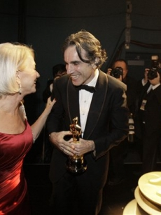 Daniel Day-Lewis and Helen Mirren backstage at the Oscars