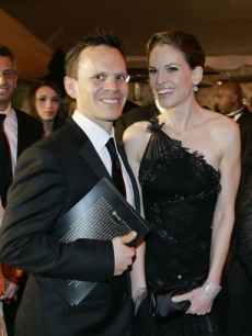 Hilary Swank and John Campisi arrive at the Governors Ball