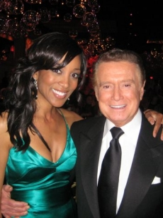 Shaun Robinson with Regis Philbin