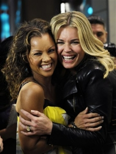 Rebecca Romijn, with Vanessa Williams at the 'Hollywood Glam' party in Beverly Hills