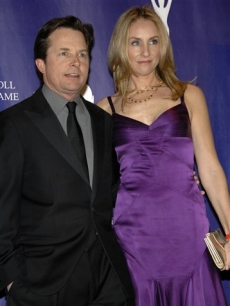 Michael J. Fox & Tracy Pollan at the Rock & Roll Hall of Fame induction ceremony