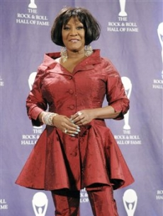 Patti LaBelle poses backstage at the Rock and Roll Hall of Fame Induction Ceremony