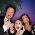 Jodie Foster, Abigail Breslin and Billy Bush at ShoWest 2008 in Las Vegas